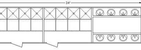 8 Station Shower Sink Combo Trailer-34 Foot