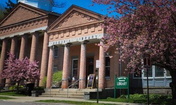 Front on Montour Falls Library Spring 2020