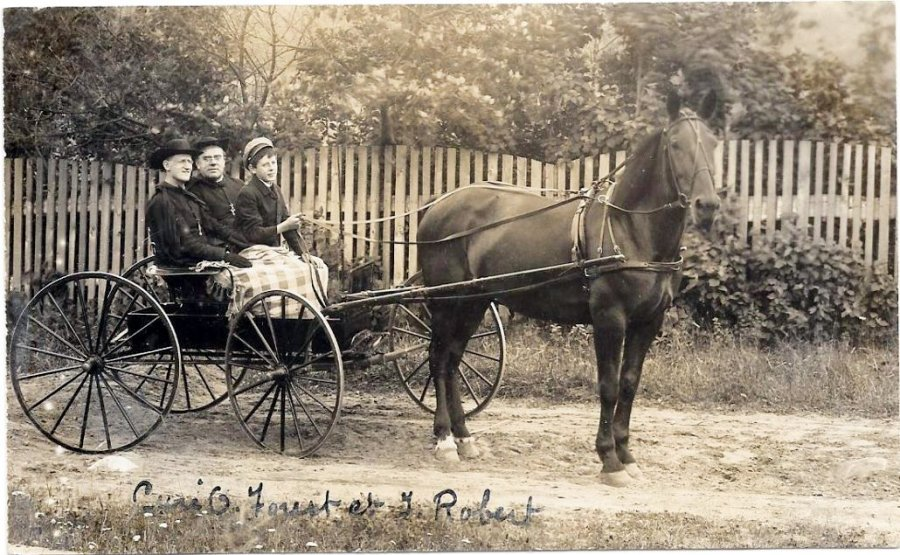 Chertsey, le curé dans sa carriole