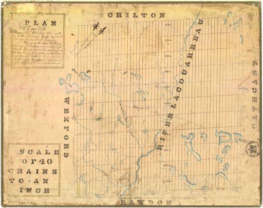 1849 - L'arpentage est complété