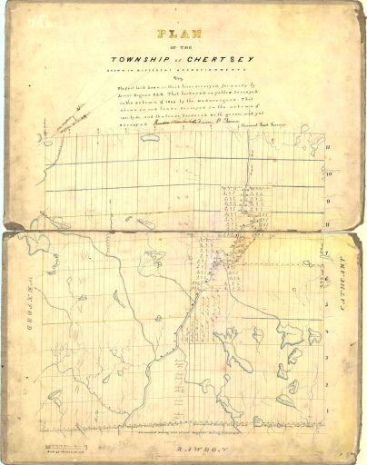 1851 - Lotissements le long de la rivière Ouareau