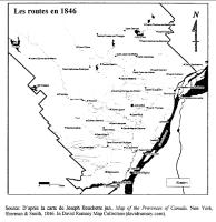 Les routes de Lanaudière en 1846
