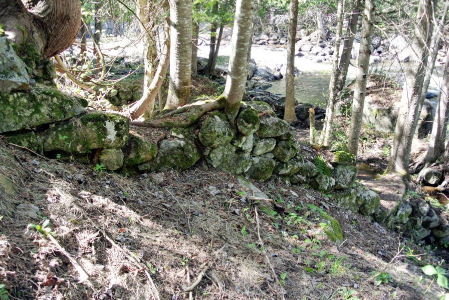 Vestiges du moulin: le site