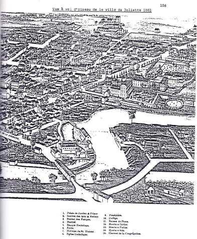 La ville de Joliette en 1881