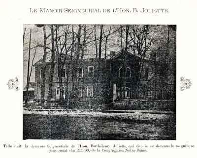 Le manoir de Barthélémy Joliette à L'Industrie