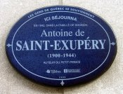 Plaque Saint-Exupéry, Québec