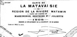 Carte de la Matavaisie 1906