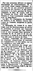Inauguration de l'église paroissiale (2)