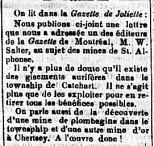 La Gazette de Sorel 26 septembre 1868