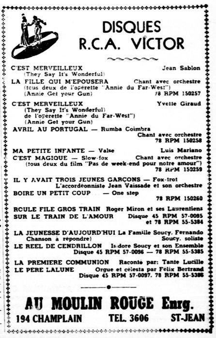 Le Canada Français 12 octobre 1950