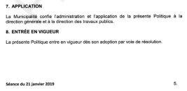 Un projet déjà adopté le 21 janvier