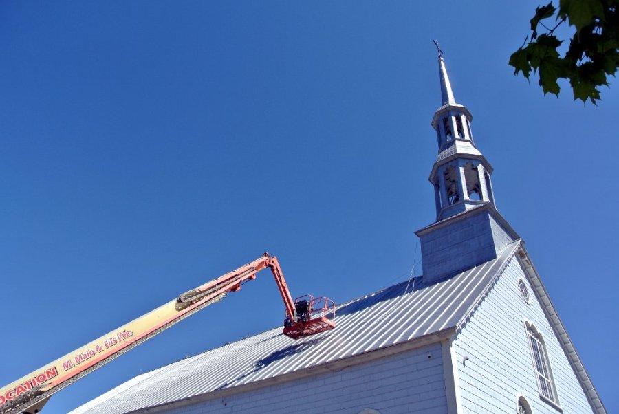 Travaux à l'église de Chertsey