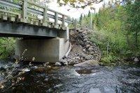 Le pont Grégoire endommagé