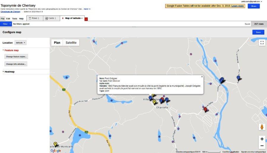 Carte interactive de Chertsey: Pont Grégoire