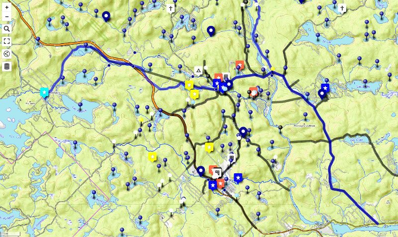 Carte historique interactive