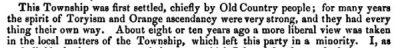 Politique à Rawdon 1856
