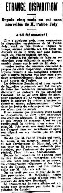 La Presse 22 avril 1901