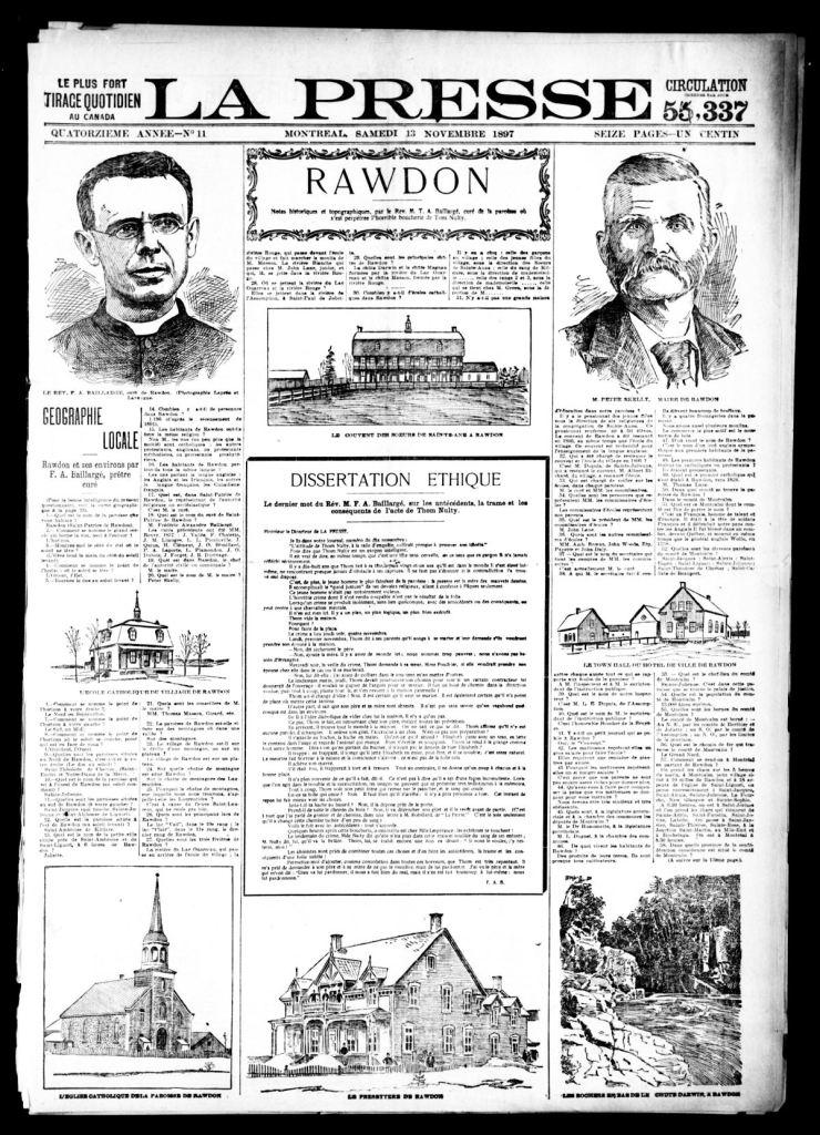 La Presse 13 novembre 1897