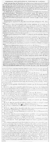 Le Populaire 14 juillet 1837