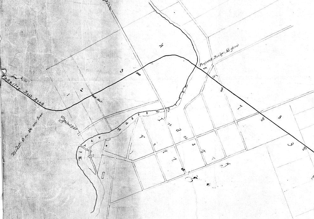 La jonction à Joliette et le pont sur la rivière l'Assomption