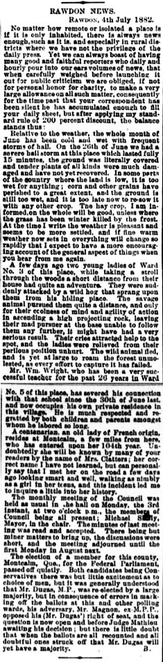 Daily Witness 6 juillet 1882