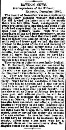 Daily Witness 26 décembre 1882