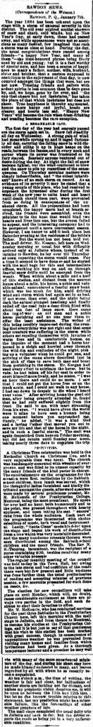 Daily Witness 10 janvier 1884