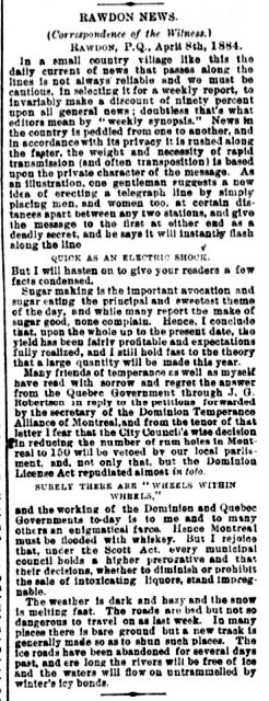 Daily Witness 12 avril 1884