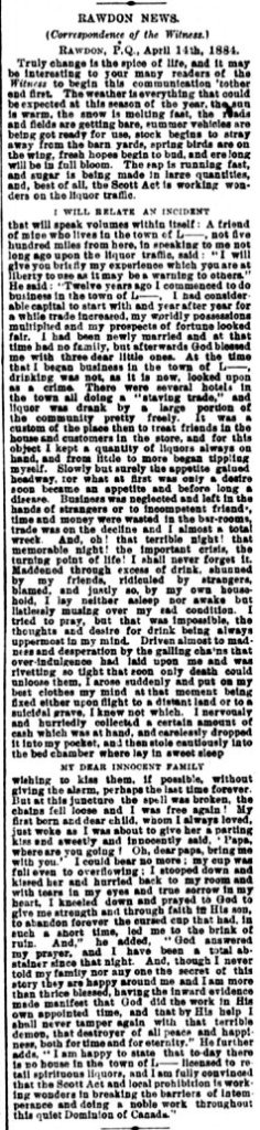 Daily Witness 22 avril 1884