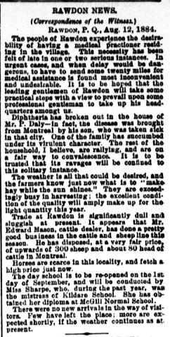 Daily Witness 15 août 1884