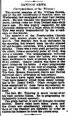 Daily Witness 29 septembre 1884