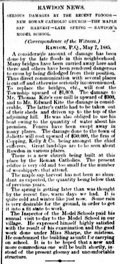 Daily Witness 9 mai 1885