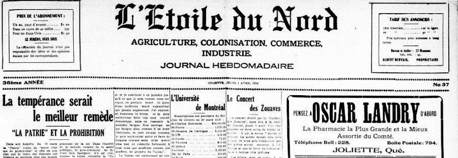 1er avril 1920 il y a 100 ans