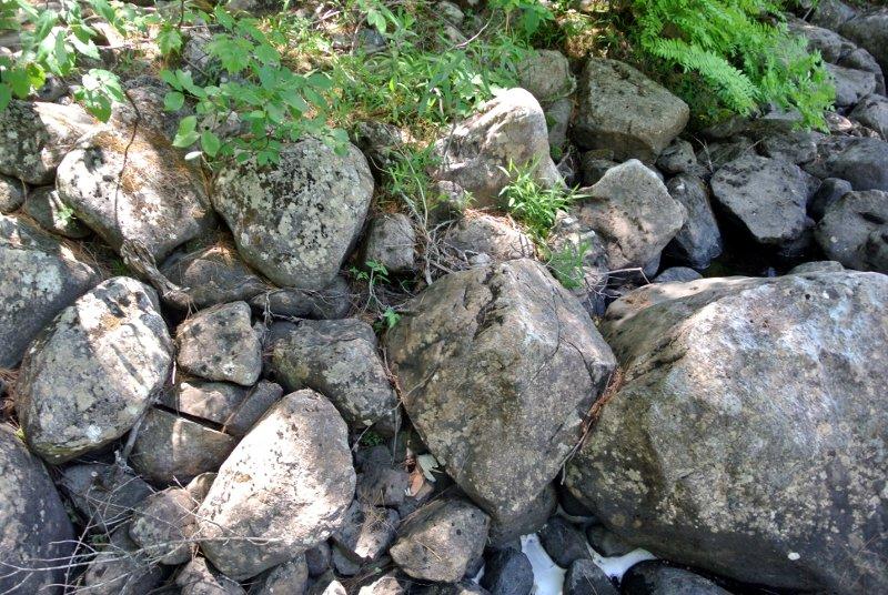 Le pavage du bord de la rivière