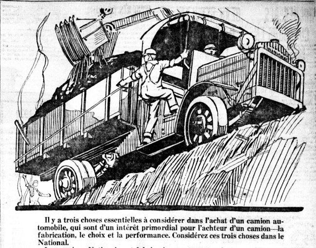 Publicité de camion
