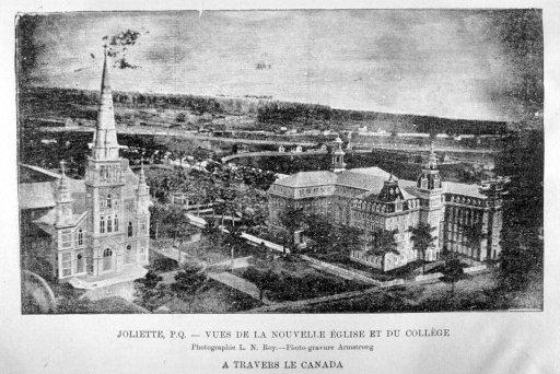 Vues de la nouvelle église et du collège - Joliette