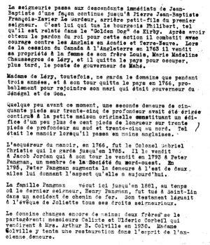 Histoire du manoir de Mascouche