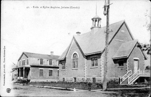 Église et école anglaise, Joliette - BANQ