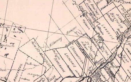 Carte des seigneuries en 1923