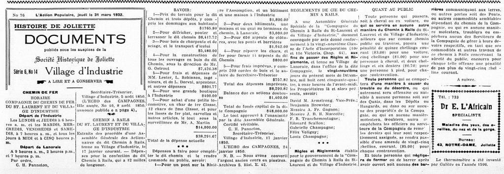 L'Action Populaire 31 mars 1932