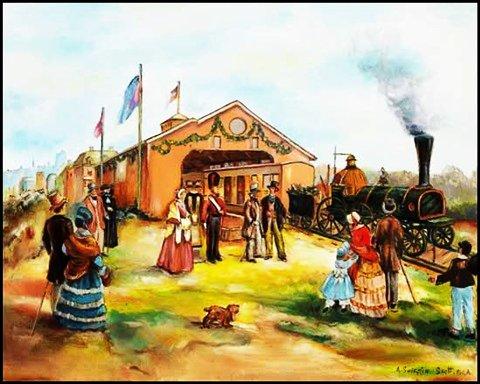 Le train de Lachine - A.S. Scott