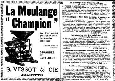 Le Prix courant 26 juin 1903