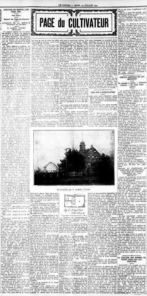 Le Canada 29 juillet 1909