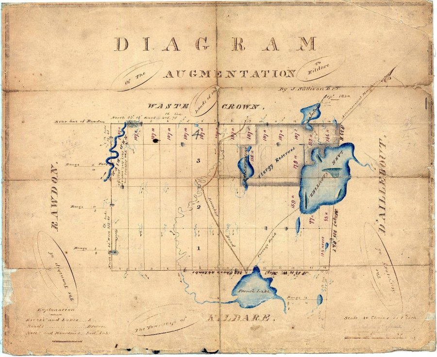 Diagram of the Augmentation to Kildare - 1830