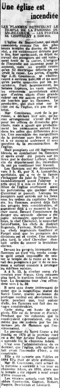 Le Devoir 4 avril 1922