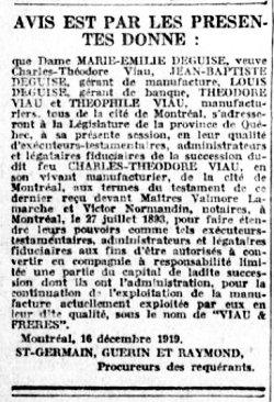 Le Devoir 24 décembre 1919