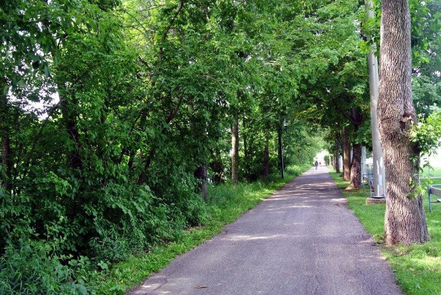 La piste cyclable de Joliette