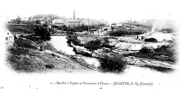 Le pont des Dalles autrefois