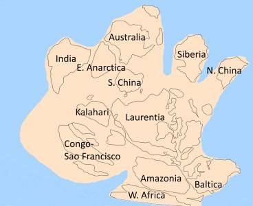 Le super-continent Rodinia