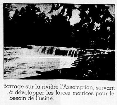 Barrage sur la rivière L'Assomption